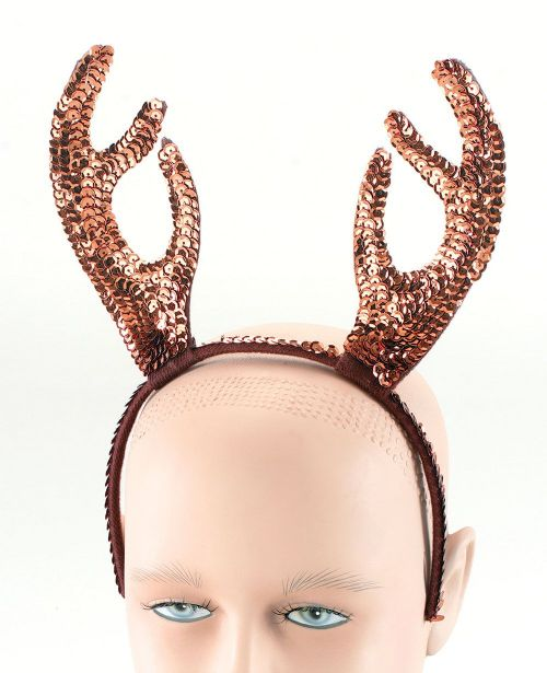 Reindeer Horns Sequin Christmas Animal Festive Fancy Dress Accessory